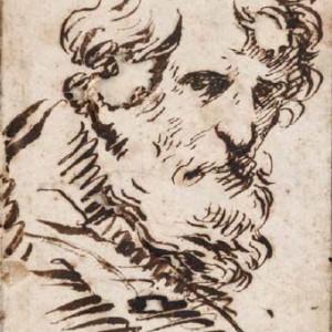 Bearded Head in half-profile - Francisco de Herrera, the Elder