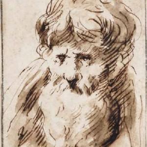 Head of an old bearded Man - Francisco de Herrera, the Elder