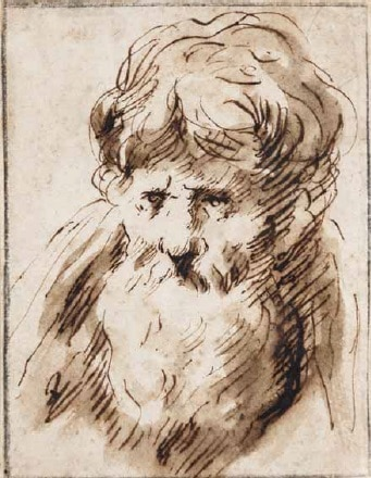 Head of an old bearded Man - Francisco de Herrera, the Elder