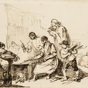 Peasant scene -