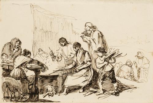 Peasant scene - Leonardo Alenza