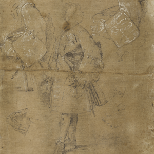 Studies for a portrait of Louis I (recto) Study of two male figures (verso) -