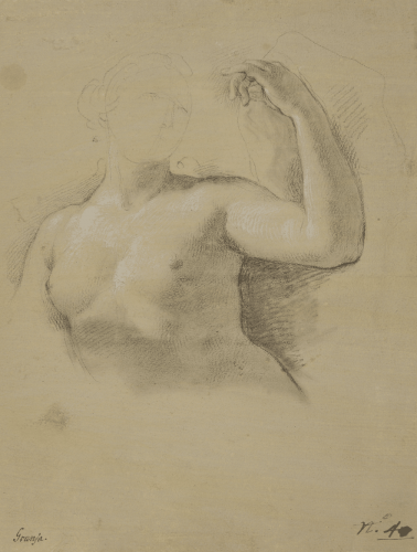 Study for the figure of Venus in the fresco of The Apotheosis of Hercules in the Royal Palace, Madrid - Anton Raphael Mengs