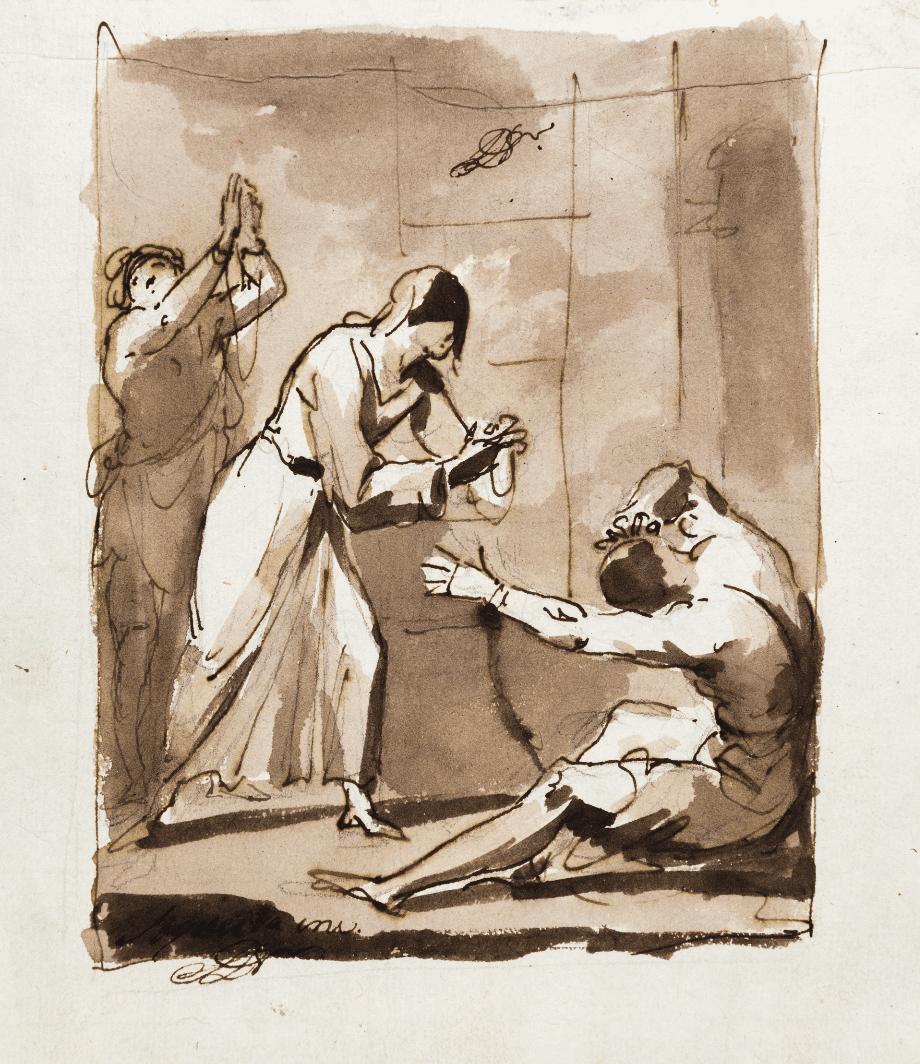 Faith visiting the captives - Domingos António de Sequeira